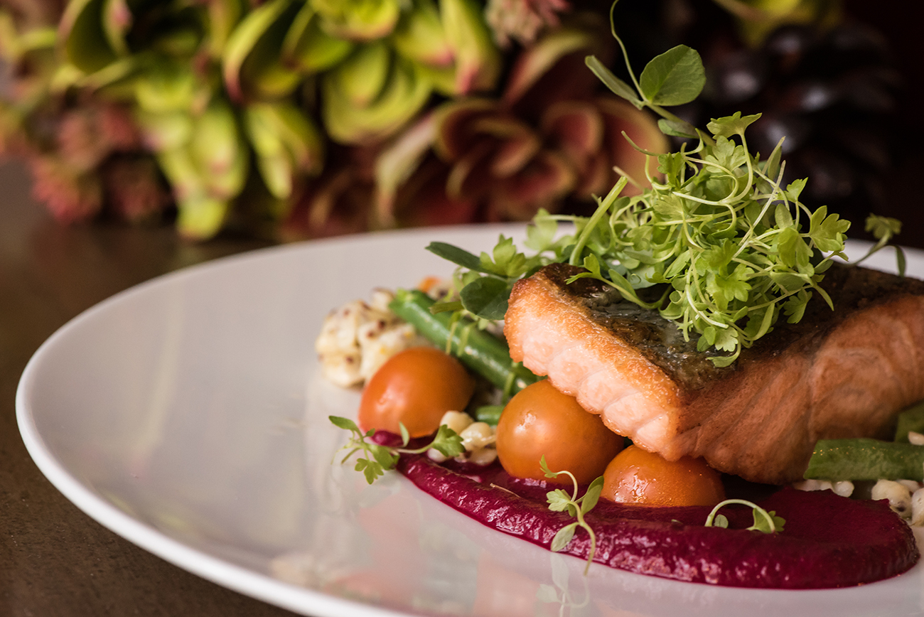 Sustainably raised salmon